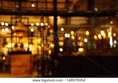 blur light at bar at night background