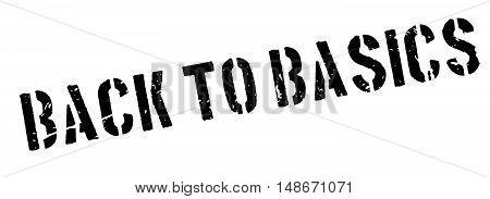 Back To Basics Rubber Stamp