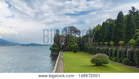 the island of isola madre on the lago maggiore in northern italy