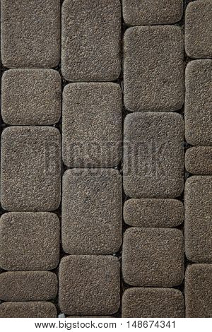 Stone tile floor paving fragment - Texture of old rock