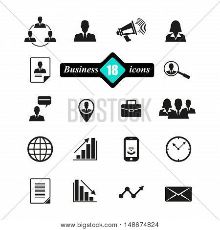 Abstract composition, business icons set, commercial image collection, financial symbol draw, official document decoration,  EPS 10 vector