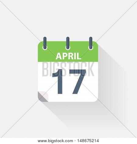 17 april calendar icon on grey background