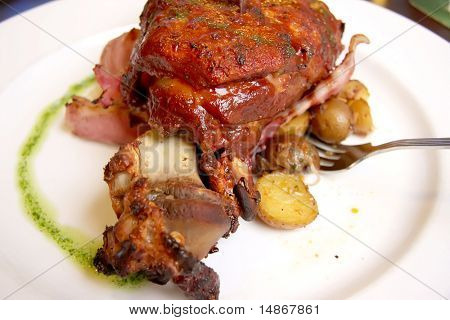 Pork knuckles traditional german cuisine meat dish