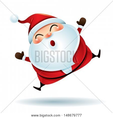 Santa Claus feeling excited