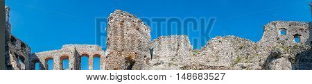 OGRODZIENIEC, POLAND - SEP 03, 2016: Ogrodzieniec Castle is the largest castle of the Krakow-Czestochowa Upland and, undoubtedly, one the most beautiful castles in Poland. It is located on Mount Janowski at the heart of the Upland. Fantastic rock formatio