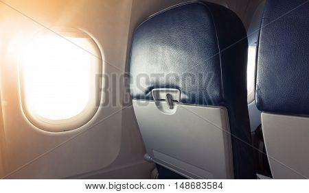 Passenger Plane Interior Fragment. Main Cabin