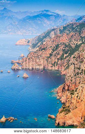 South Corsica. Vertical Coastal Landscape