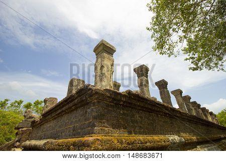 The beautiful old ruins in Polonnaruwa (Sri Lanka)