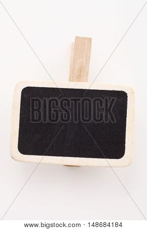 blank blackboard for copy space on the white background