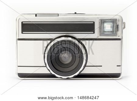 Isolated vintage camera from the seventies era