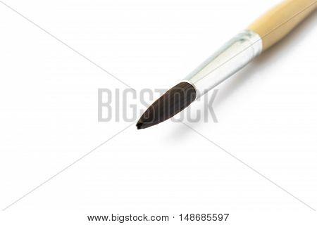 Closeup Paintbrush for artist on white background artist concept