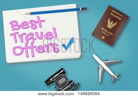 Best Travel offer for travel agency poster banner