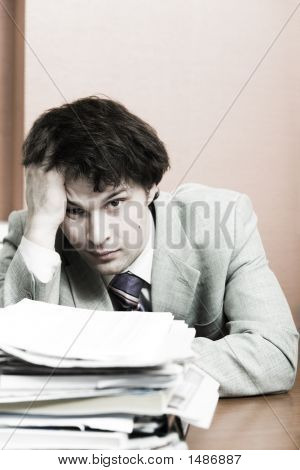 Businessman Having Headache