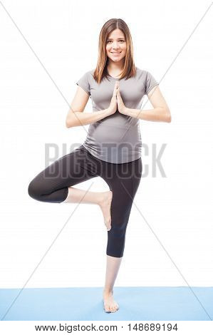 Pregnant Woman Practicing Some Yoga