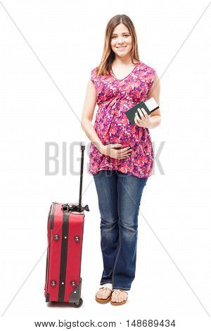Pregnant Woman Ready To Travel