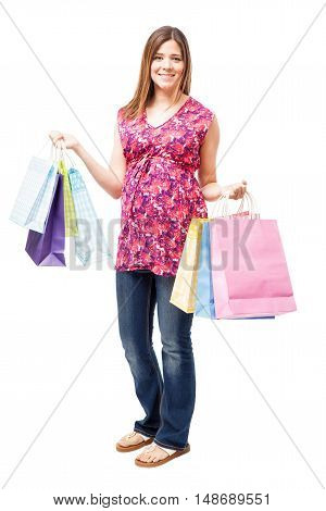 Pregnant Woman Doing Some Shopping