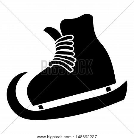 The skates icon in simple style on a white background vector illustration