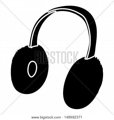 Winter earmuffs icon in simple style on a white background vector illustration