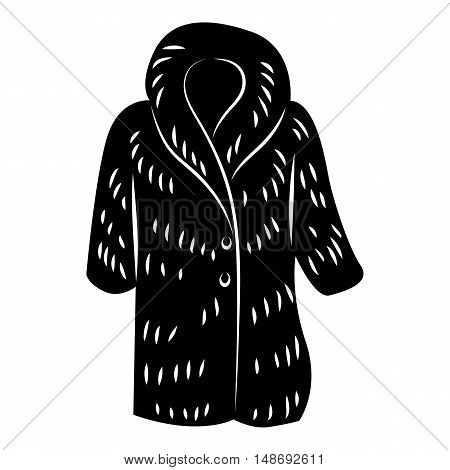 Fur coat icon in simple style on a white background vector illustration