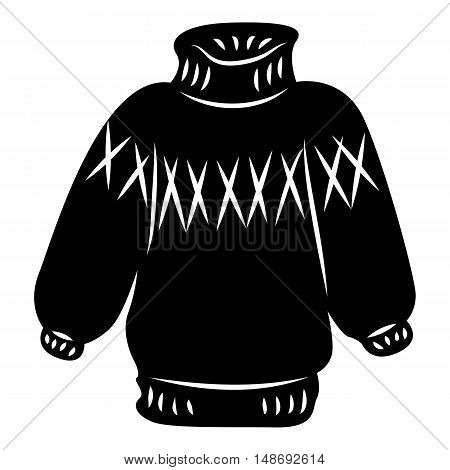 Warm sweater icon in simple style on a white background vector illustration