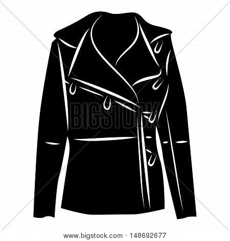 Winter jacket icon in simple style on a white background vector illustration