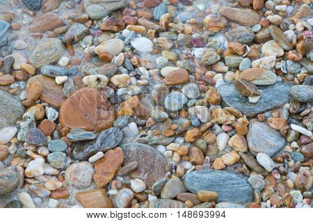 Round natural sea rock background, natural background and texture