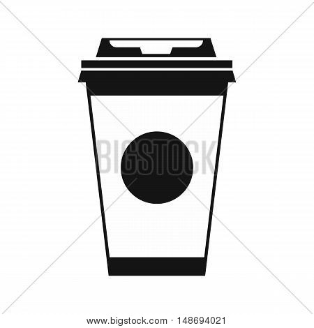 Paper coffee cup icon in simple style on a white background vector illustration