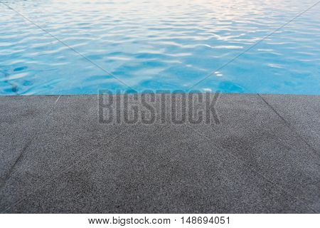 Black Granite Stone Pool Edge