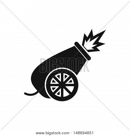 Circus cannon icon in simple style on a white background vector illustration