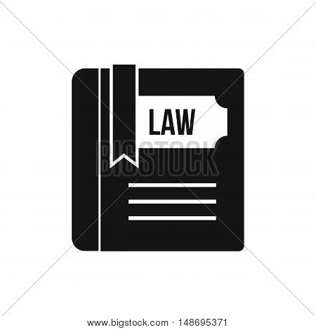 Law book icon in simple style on a white background vector illustration