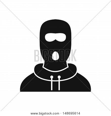 Man in balaclava icon in simple style on a white background vector illustration
