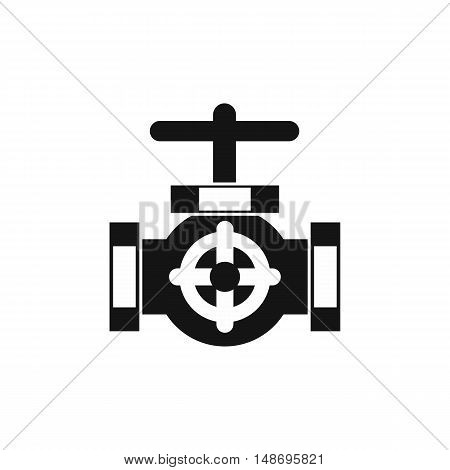 Pipe with a valves icon in simple style on a white background vector illustration