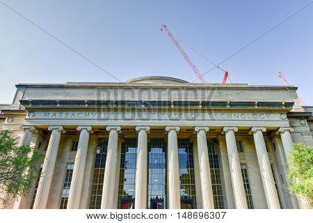 Boston, Massachusetts - September 5, 2016: The Great Dome of the Massachusetts Institute of Technology.