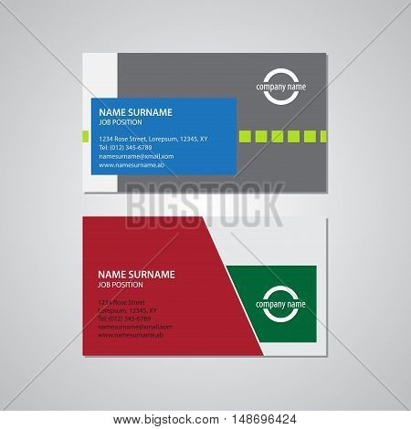 set of two business cards - Canada and USA standard 35 x 2 in 889 x 508 mm