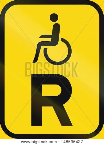 Temporary Road Sign Used In The African Country Of Botswana - Reservation For Vehicles Carrying Disa