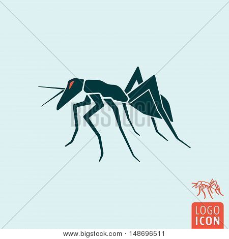 Ant icon. Worker ant symbol. Vector illustration