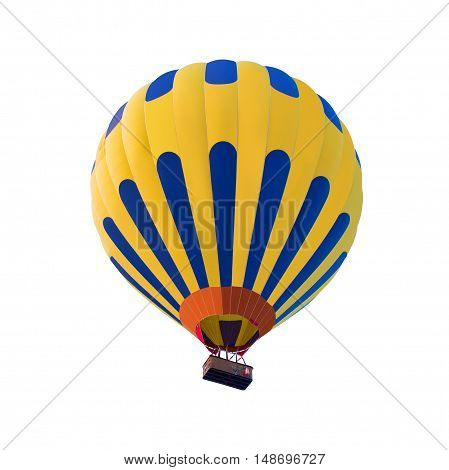 Hot air balloon isolated on the white background