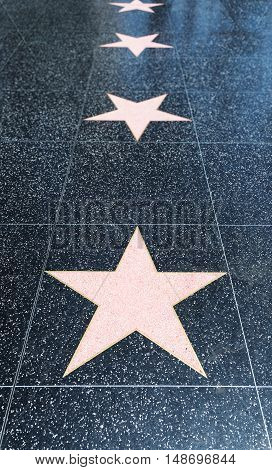 Blank Walk of Fame stars for your convenience.