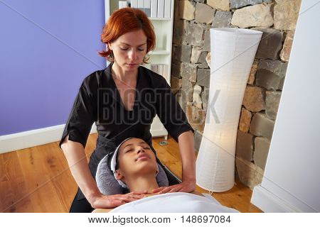 Shoulders and neck massage woman with physiotherapist