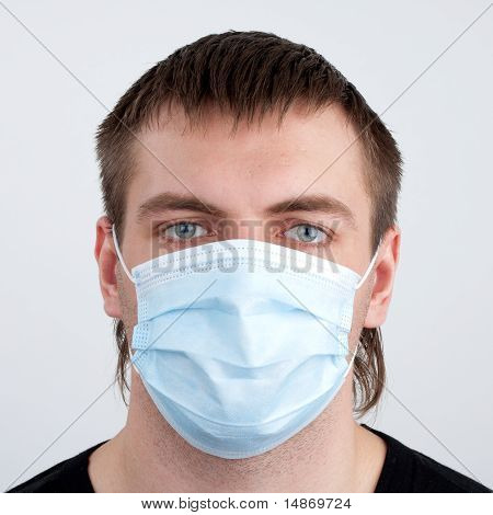 Man In Medical Mask