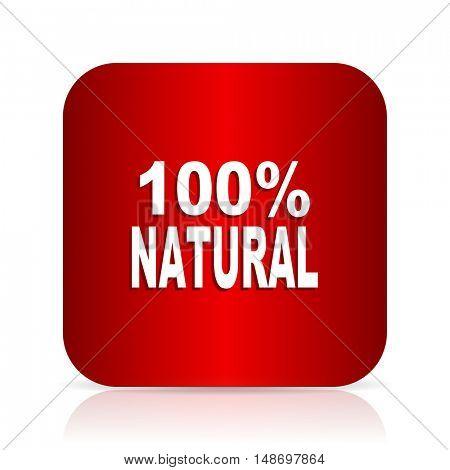 natural red square modern design icon