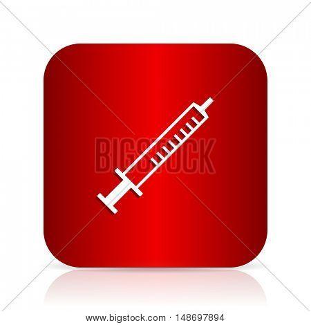medicine red square modern design icon