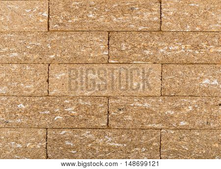 Background From Tiled Brown Crispbread