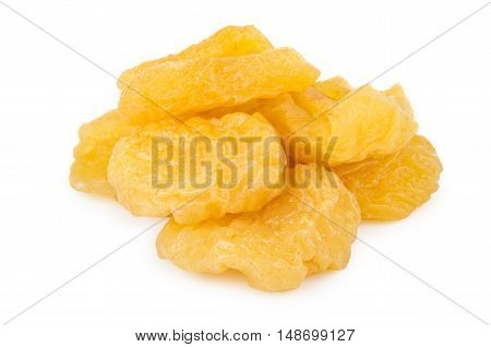 Heap Of Dried Pears Isolated On White