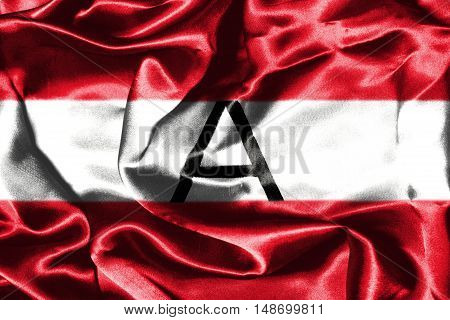 Austrian Flag Grunge Looking With Letter A On It