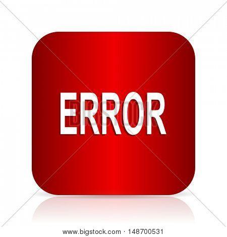 error red square modern design icon