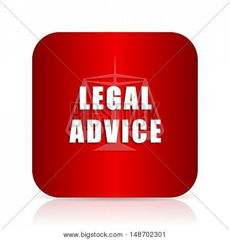 legal advice red square modern design icon