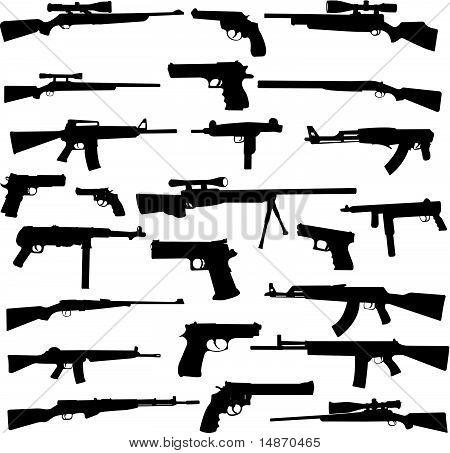 coleção de armas - vector