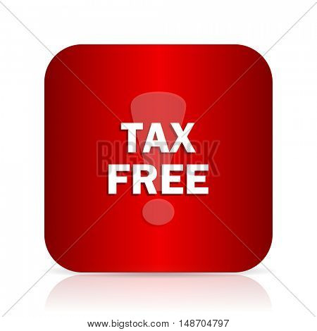 tax free red square modern design icon