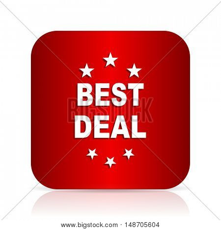 best deal red square modern design icon